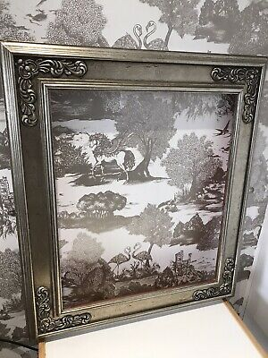 Quality Large Striking Rococo Baroque Vintage Ornate Silver Picture Frame • 34.99£