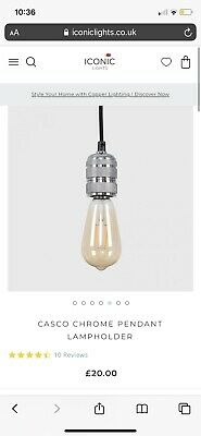 2m Cable Chrome Black Ceiling Light New In Box • 0.99£