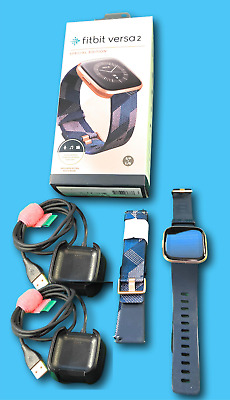 $ CDN219.97 • Buy Fitbit Versa 2 Special Ed Rose Health Fitness Smartwatch + Bands + Xtra Charger