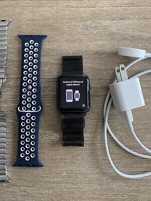 $ CDN125.23 • Buy Apple Watch Series 1 Larger Model 42mm Space Gray Aluminum Black