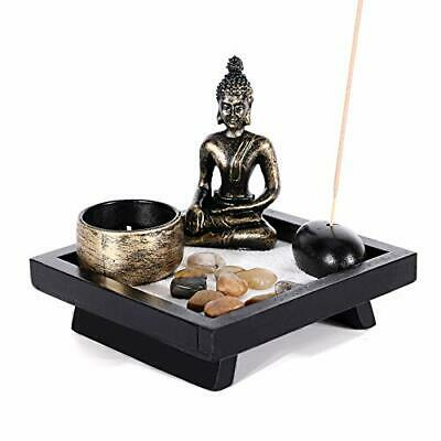 GoMaihe Zen Garden Ornaments Incense Stick Holder Candle Tray, Tealight • 15.99£