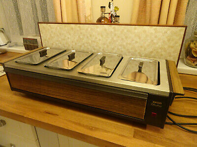 EKCO HOSTESS Table Top Buffet Server Food Warmer With Cover • 25£