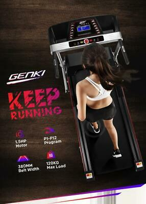 AU450.50 • Buy RETURNs Genki 380mm Belt Electric Treadmill Home Gym Exercise Machine Running