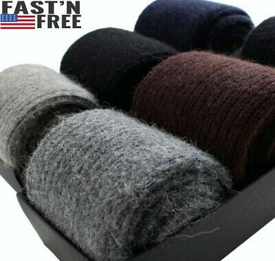 $15.99 • Buy 100%Merino Wool Cashmere 3 Pack Men Dress Socks Solid Thick Thermal Classic Crew