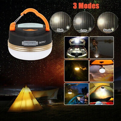 AU14.72 • Buy 5LED Hiking Camping Tent Lantern Light USB Lamp Outdoor Rechargeable With Hook