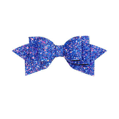 $0.30 • Buy Baby Girl Glitter Hair Bow Royal Blue Hairpins Hair Clip Kids Hair Accessories