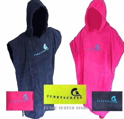 Funky Surfer  Hooded Surf Changing Robe Beach Poncho Changing Towel Swim Towel • 17.99£