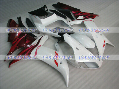 $452.40 • Buy Fairing Kit Fit For YZF R1 2002 2003 White Red ABS Injection Mold Bodywork A#17