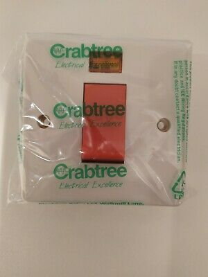£5.99 • Buy Crabtree 4016/3 Cooker Or Shower D/pole Switch With Neon Indicator 1 Gang 45 Amp