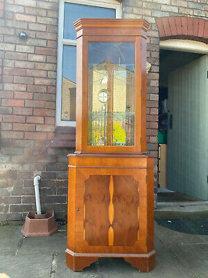 Wood/glass Corner Display Cabinet. Used, Good Condition. • 8.10£