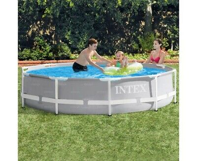 Intex 10ft X 30in Prism Frame Above Ground Swimming Pool - Light Grey BRAND NEW • 299£