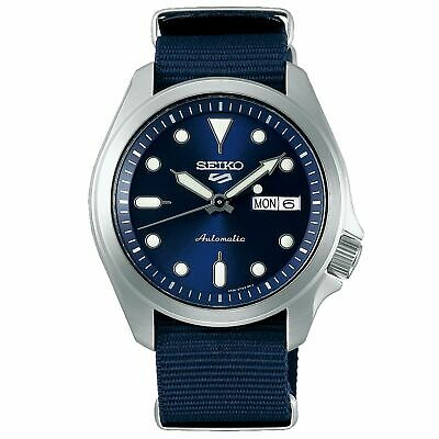 $ CDN317.54 • Buy Seiko 5 Sports Automatic Blue Dial Nylon Strap Men's Watch SRPE63K1