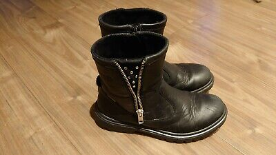 Girls Black Leather Superfit Boots Size 13 • 10£