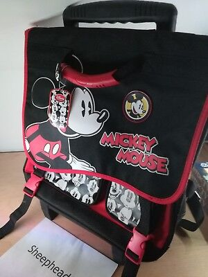 Official Disney Store Mickey Mouse Trolley Bag/Backpack - New With Tags • 28£
