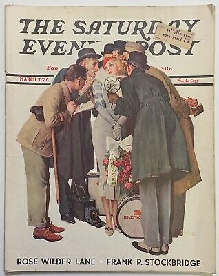 $ CDN13.41 • Buy Saturday Evening Post Norman Rockwell Cover 1936 March 7