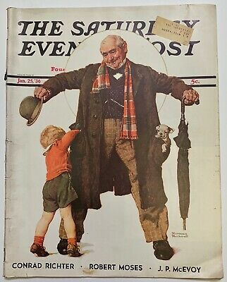 $ CDN13.41 • Buy Saturday Evening Post Norman Rockwell Cover 1936 January 25