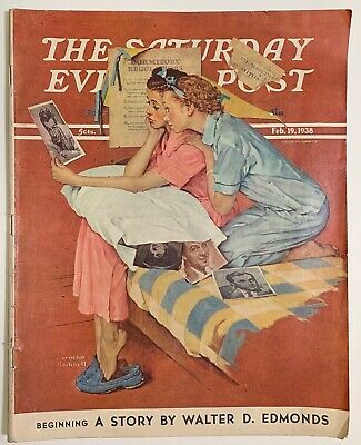 $ CDN13.41 • Buy Saturday Evening Post Norman Rockwell Cover 1938 February 19