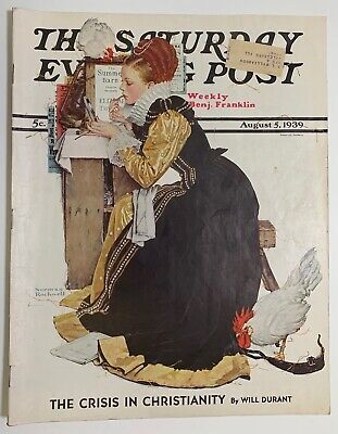 $ CDN13.41 • Buy Saturday Evening Post Norman Rockwell Cover 1939 August 5