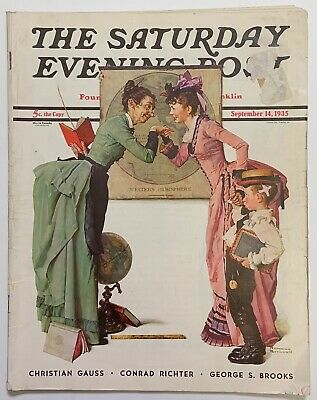 $ CDN13.41 • Buy Saturday Evening Post Norman Rockwell Cover 1935 September 14