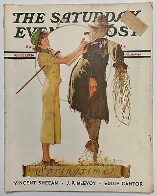 $ CDN13.41 • Buy Saturday Evening Post Norman Rockwell Cover 1936 April 25