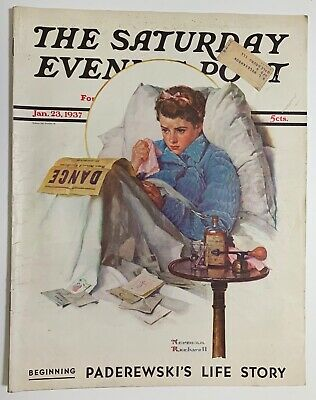$ CDN13.41 • Buy Saturday Evening Post Norman Rockwell Cover 1937 January 23