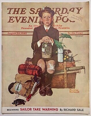 $ CDN13.41 • Buy Saturday Evening Post Norman Rockwell Cover 1940 August 24