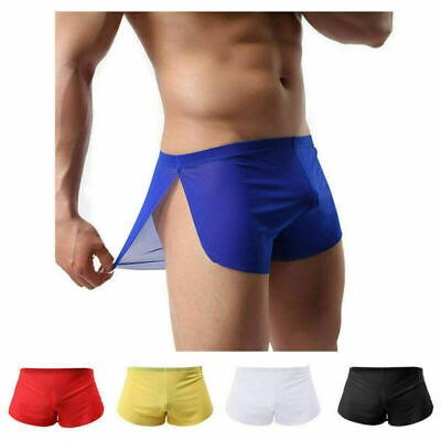 Sexy Mens Sheer See Through Boxer Briefs Underwear Mesh Shorts Trunks Underpants • 3.49£