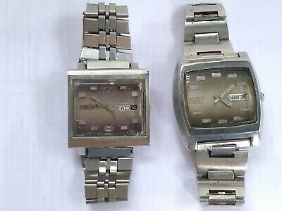 $ CDN113.96 • Buy (LOT OF 2) VINTAGE WATCHES AUTOMATIC SEIKO 5 TV 6106 And 6309 WORKING OK