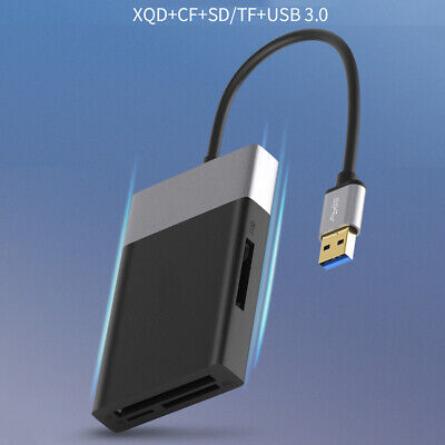 $ CDN33.06 • Buy USB 3.0 Card Reader Hub Multi-function High Speed For SD/XQD/TF/CF