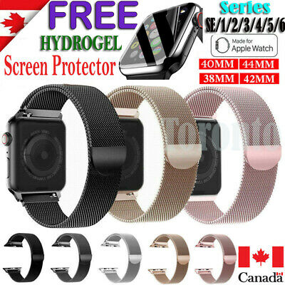 $ CDN10.99 • Buy For Apple Watch IWatch Band Series 6 5 4 3 2 1 SE Magnetic Stainless Steel Strap