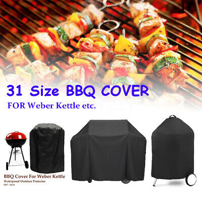 31 Sizes BBQ Cover Gril Barbeque Kettle Protector For Weber Dust Waterproof +3 • 14.10£