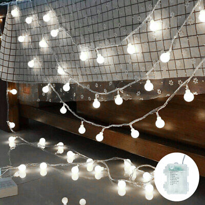 10M 100LED Globe String Lights Mains Power Outdoor Plug Ball Fairy Garden Decor • 11.99£