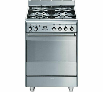 SMEG SUK61PX8 60 Cm Dual Fuel Cooker Gas Hob Stainless Steel RRP £899 • 599£