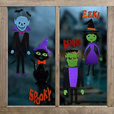 Halloween Window  Stickers Decorations Spooky Scary Party Kids Children • 3.99£