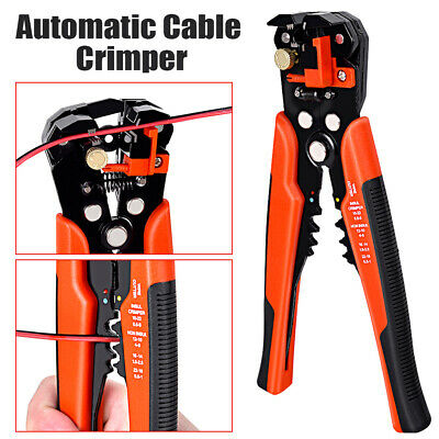 Automatic Self Adjustable Cable Wire Crimper Crimping Cutter Stripper Plier Tool • 6.99£