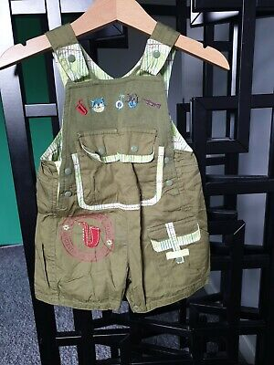 Baby BOY 3MONTHS 60CM DUNGAREES 100% Cotton GREEN  Marese  • 5£