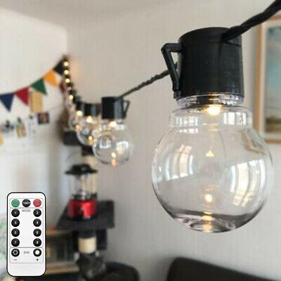 Electric 20LED Crystal Ball Fairy String Lights Xmas Bulb Garden Outdoor Indoor • 11.99£