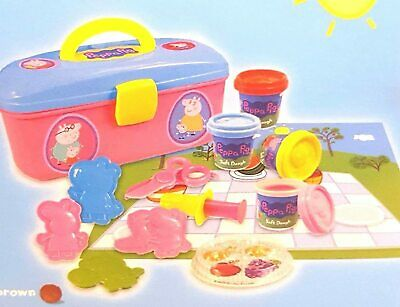 Peppa Pig Dough Activity Box Set With Picnic Case & Character Moulds • 24.99£
