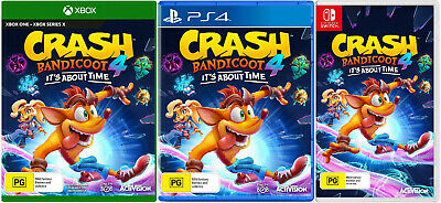 AU89 • Buy Crash Bandicoot 4 Its About Time XBOX One PS4 Nintendo Switch Family Kids Game