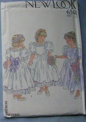UNCUT 6544 New Look Sewing Pattern Girls Dress Flower Bridesmaid Confirmation  • 9.50£