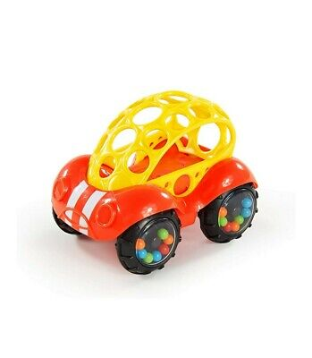 £9.99 • Buy Bright Starts Oball Rattle And Roll Buggie Toy Red/Yellow FREE FAST DELIVERY