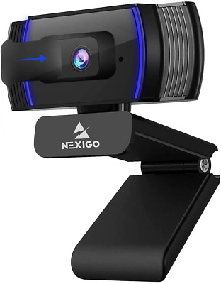 2020 AutoFocus 1080p Streaming Webcam With Stereo Microphone And Privacy Cover • 68.14£