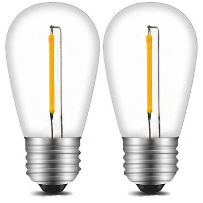 AU10.19 • Buy S14 Led Bulbs 1 Watt Reaplcement Lightbulbs For String Lights, 3000k, 2 Pack
