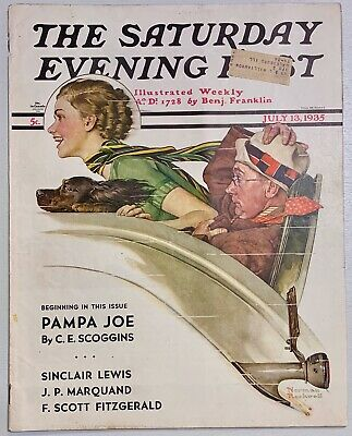 $ CDN13.41 • Buy Saturday Evening Post Norman Rockwell Cover 1935 July 13