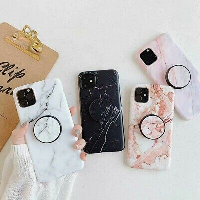 AU8.49 • Buy Luxury TPU Marble Phone Case For IPhone 11 11Pro 11Pro Max With Free Pop Holder