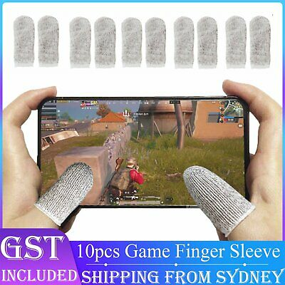 AU7.89 • Buy 10 Pcs Mobile Finger Sleeve Touch Screen Game Controller Sweatproof Gloves Thumb