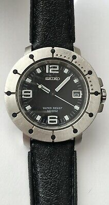 $ CDN160 • Buy Vintage Seiko 7N42-6139 Water Resistant 100 Meters Black Dial Japan Quartz RARE