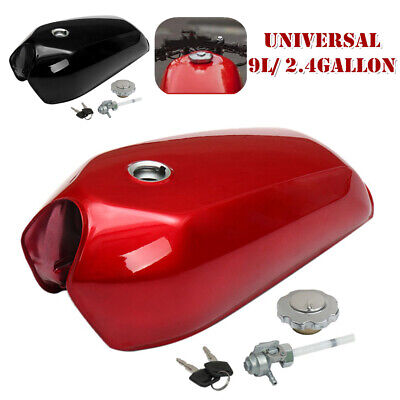$118.29 • Buy 9L/2.4 Gallon Universal Motorcycle Cafe Racer Vintage Fuel Gas Tank + Cap Switch