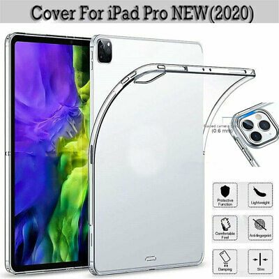 AU13.64 • Buy For IPad Pro 11  12.9  2020 & 2018 Gel Clear Shockproof Soft TPU Back Case Cover