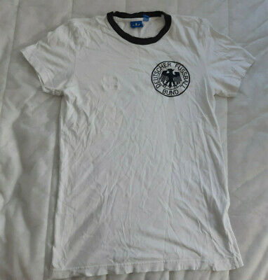 Germany Home Jersey Adidas Originals White Shirt Size S Football Vintage Retro • 35£